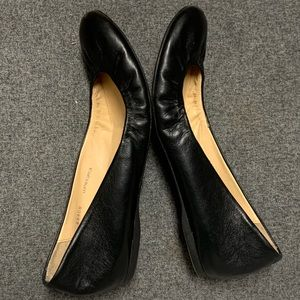 J. Crew Shoes - J Crew Italy Cece Black Leather Ballet Flat 8